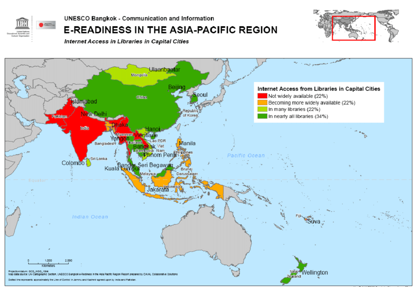 Asia Pacific Map Capitals