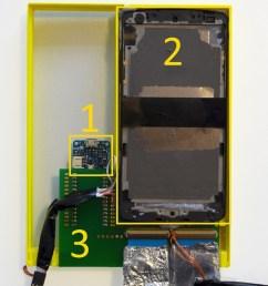 hardware box containing arduino 1 two nexus 5 without touchscreen 2  [ 850 x 1005 Pixel ]