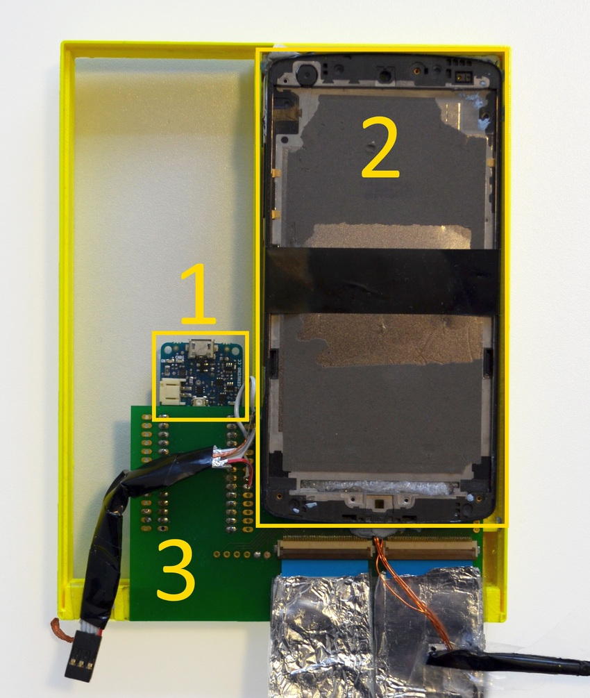medium resolution of hardware box containing arduino 1 two nexus 5 without touchscreen 2