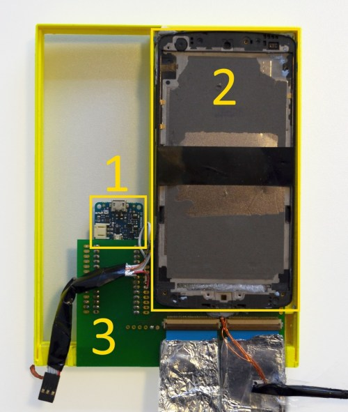 small resolution of hardware box containing arduino 1 two nexus 5 without touchscreen 2
