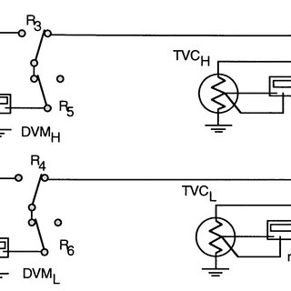 Circuit diagram of the comparator system while ac voltage