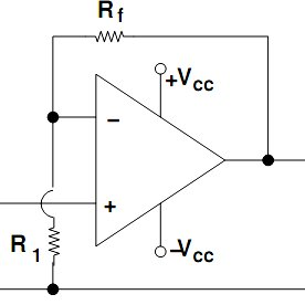 circuit diagram of non inverting amplifier s plan wiring with underfloor heating ic 741 download scientific