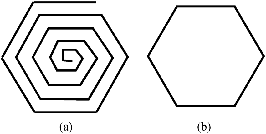 (a) Structure of a hexagonal spiral winding and (b) its