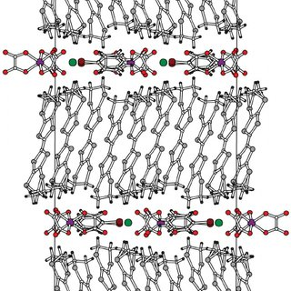 Hexagonal motif of the honeycomb-like anion layer in