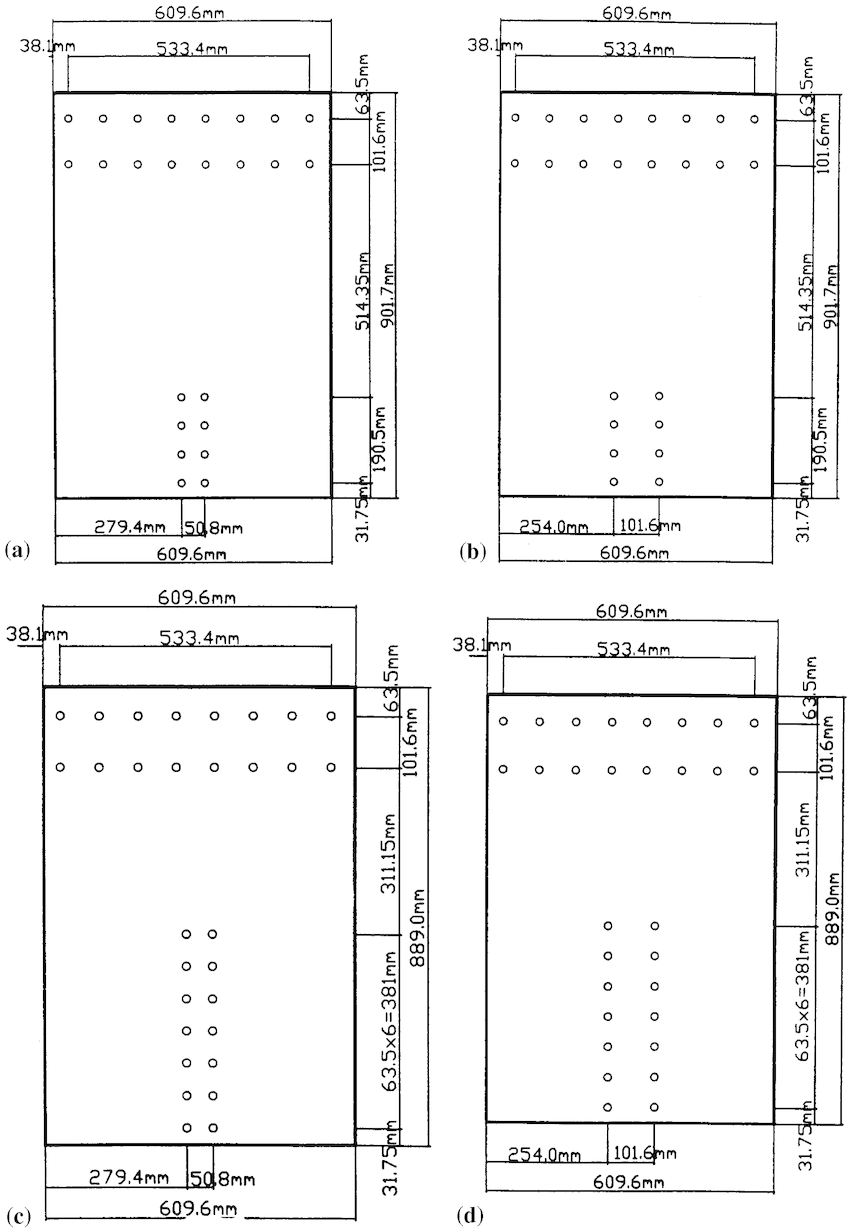 Schematic showing geometry of test samples. (a) Sample ST1