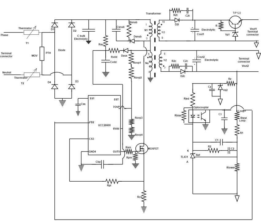 1 shows block diagram of Switched mode power supply using