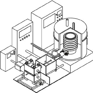 Vacuum induction melting and casting furnace
