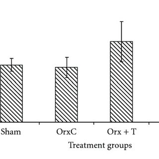 Mean trabecular separation for both groups. Data presented