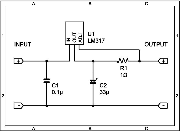 Circuit diagram of limited current circuit (1 unit