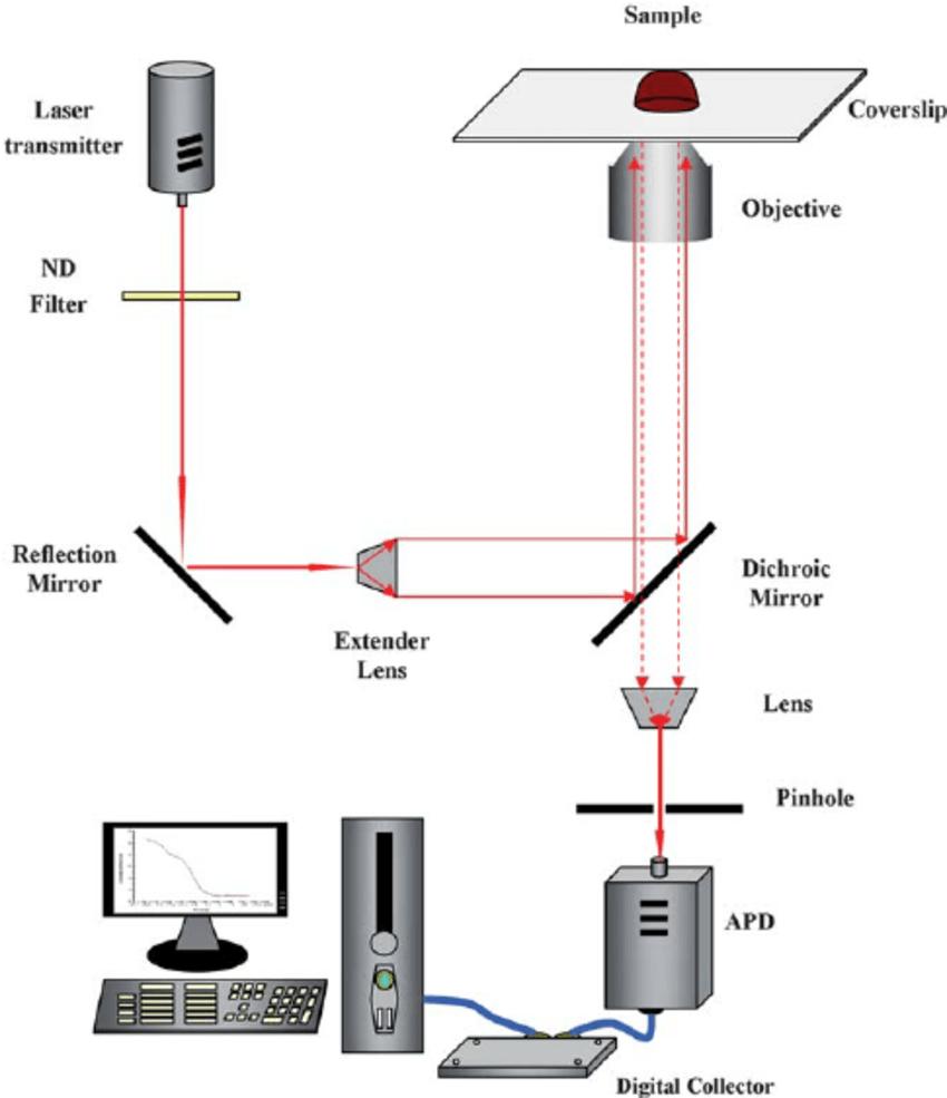 medium resolution of schematic diagram of resonance light scattering correlation spectroscopy rlscs