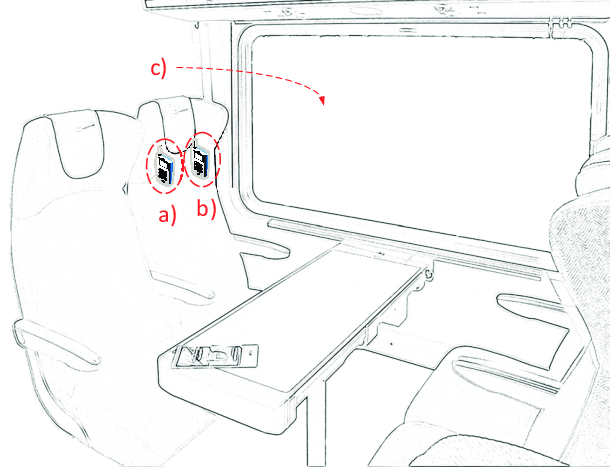 Illustration of smartphone-based measurement setup on