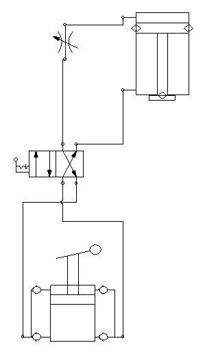 Hydraulic circuit of the experimental apparatus The above