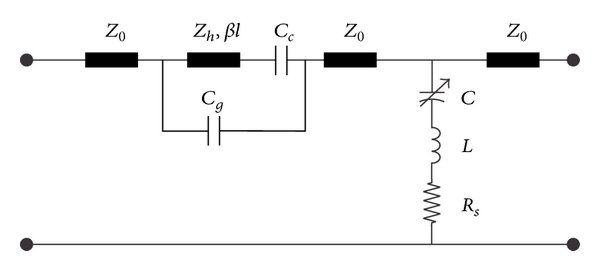 Equivalent circuit model of single port of proposed SP4T