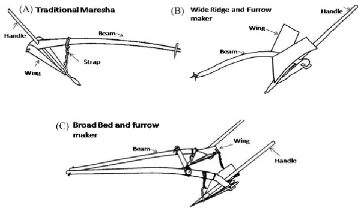 (A–C). The different types of plough used for preparation