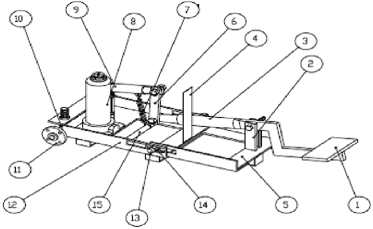 Assembly of the pedal operated hydraulic jack [4