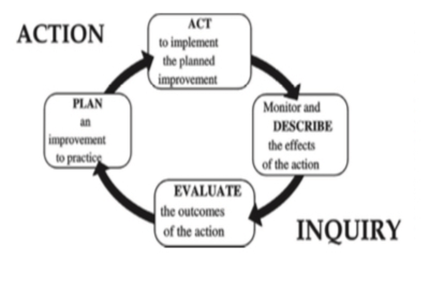 The 4-phase representation of the basic action inquiry