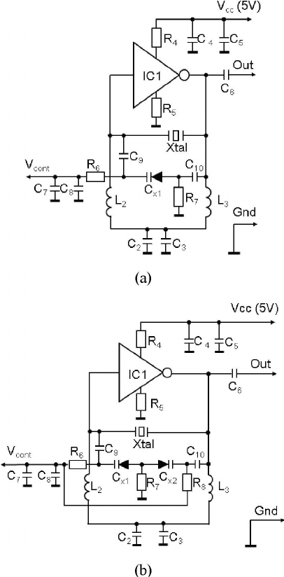 The developed voltage-controlled double-resonance quartz