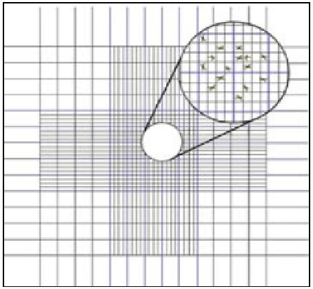 Diagram of the grid marked on a haemocytometer slide