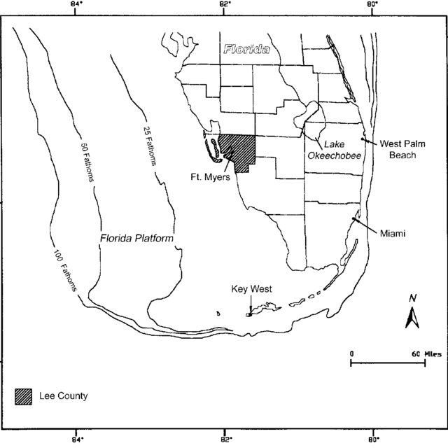 Location map of the study area in Broward County, Florida