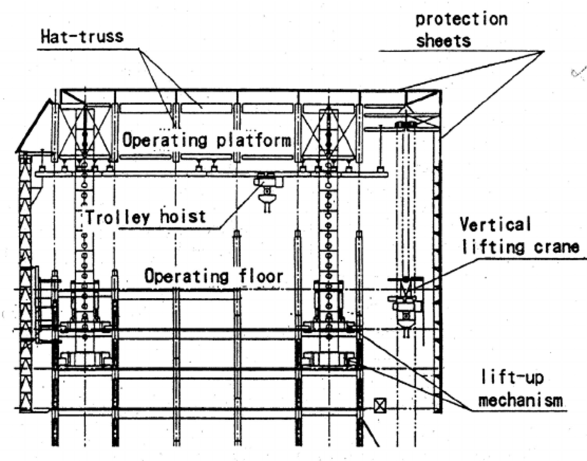 Section of an integrated automated building construction