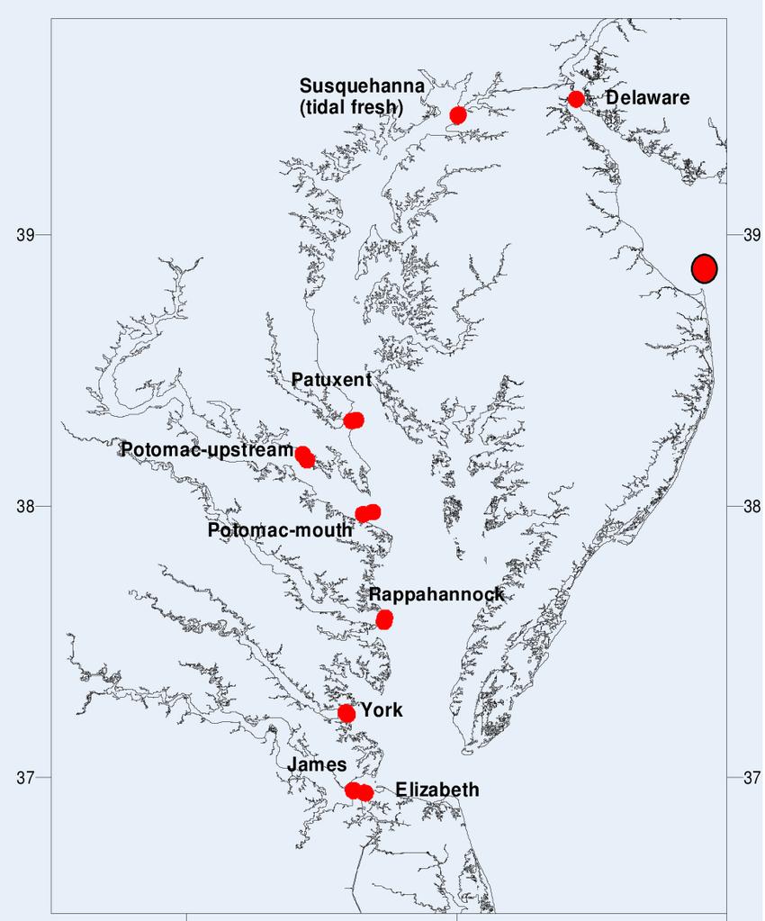 hight resolution of chesapeake bay station locations 77 76 75