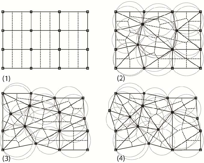 Generating primary and secondary beam layouts as Delaunay