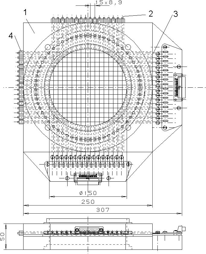 Mesh sensor for measuring tracer distributions upstream of