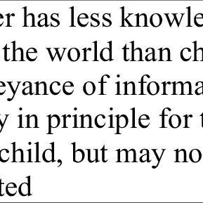 (PDF) Why Should Children Adapt, and When?