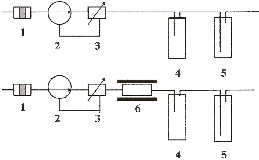 Layout of 14 C sampler developed and used for monitoring