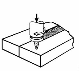 Schematic presentation of friction stir welding
