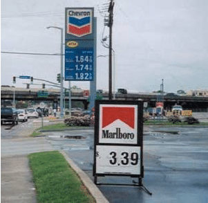 Our minimum agreement is five stations for six months. Marlboro Signage Located Next To A Gas Petrol Station In Baton Download Scientific Diagram