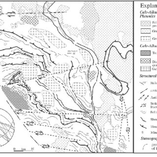 Structural interpretation map of the western part of the