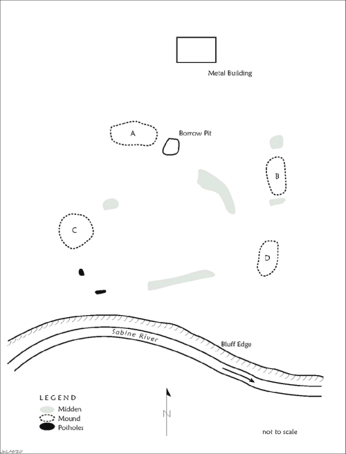 small resolution of map of the boxed spring site ca 1982