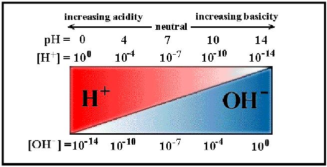4: The pH scale where high pH indicates high ...