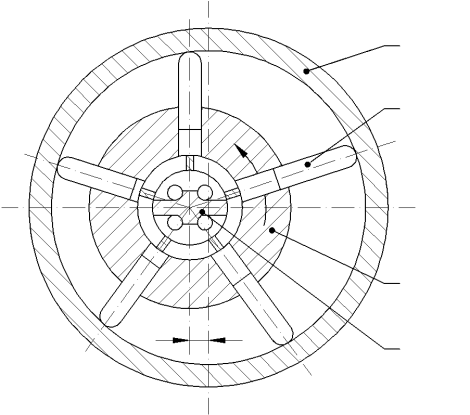 Structure of the cylinder rotating type of radial piston