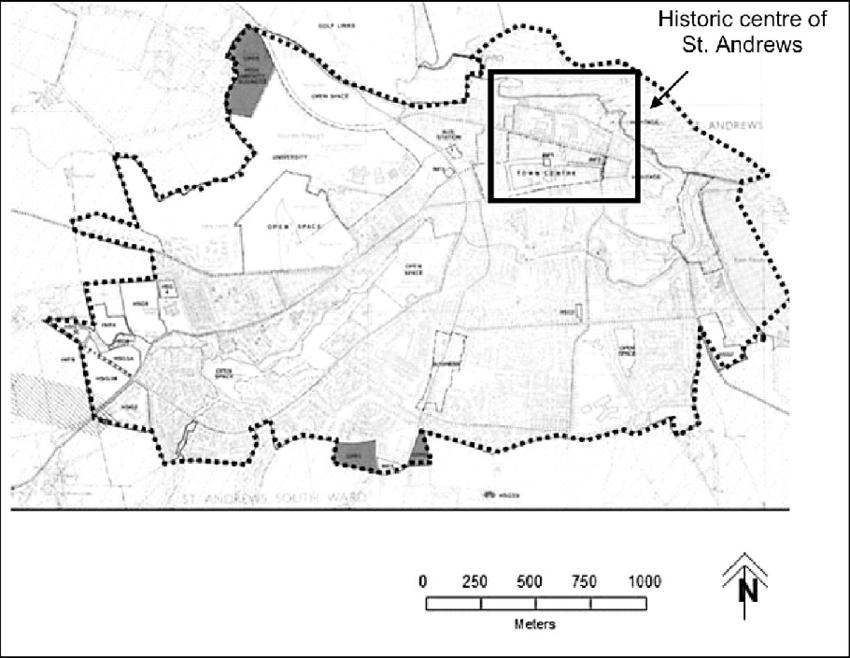 Plan of St. Andrews. Source: Local Plan Envelope (Fife