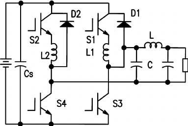 Four-switch isolated bidirectional buck-boost inverter by
