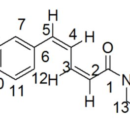 The chemical structure of pure compound (chavicine). The