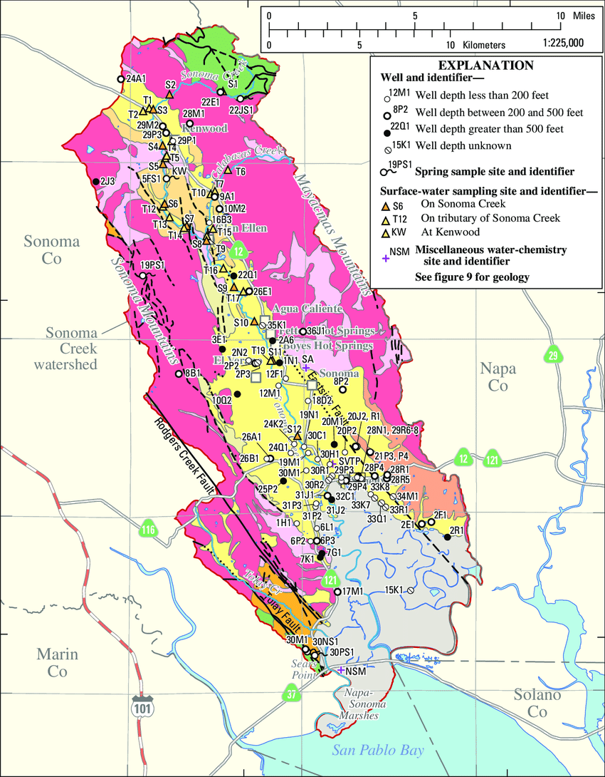 medium resolution of locations of ground water spring water surface water and miscellaneous