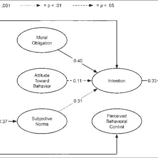 Conceptual framework for the modified theory of planned