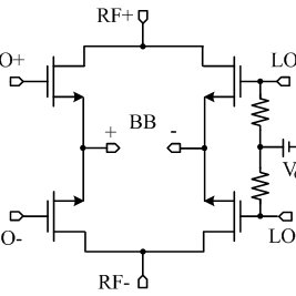 Schematic of the baseband amplifier and first filter