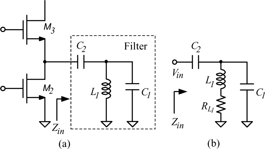 (a) Schematic of the IR LNA with the third-order passive