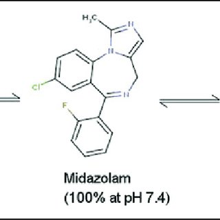 Multiple forms of midazolam with significant in vivo