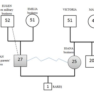 The extended family genogram of Razvan and Ioana