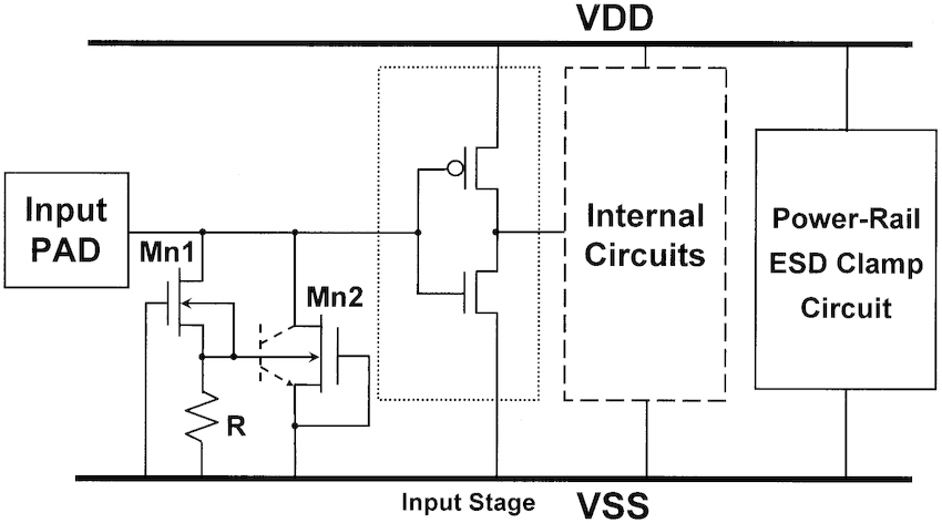 Alternative design of the proposed substrate-triggered ESD