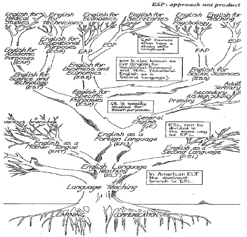 The Tree of ELT (Hutchinson and Waters, 1987, p. 17