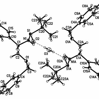 Molecular structure of the title material, showing the