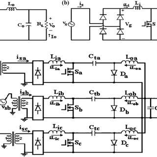 (a) Circuit diagram of DC-DC Cuk converter. (b) Circuit