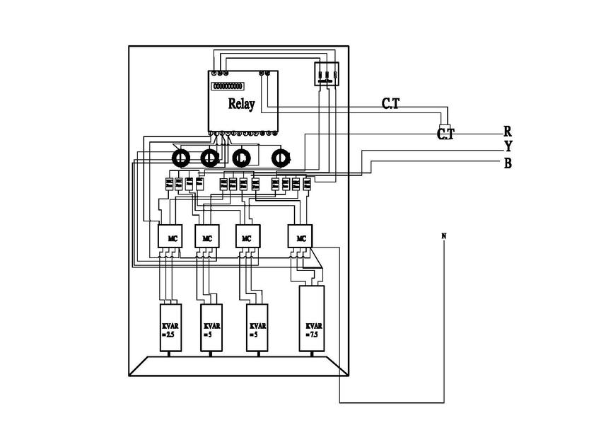 Circuit Diagram of Power factor Improvement and Controller