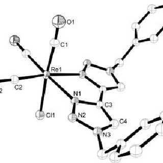 ORTEP drawing of the molecular structure of compound 1